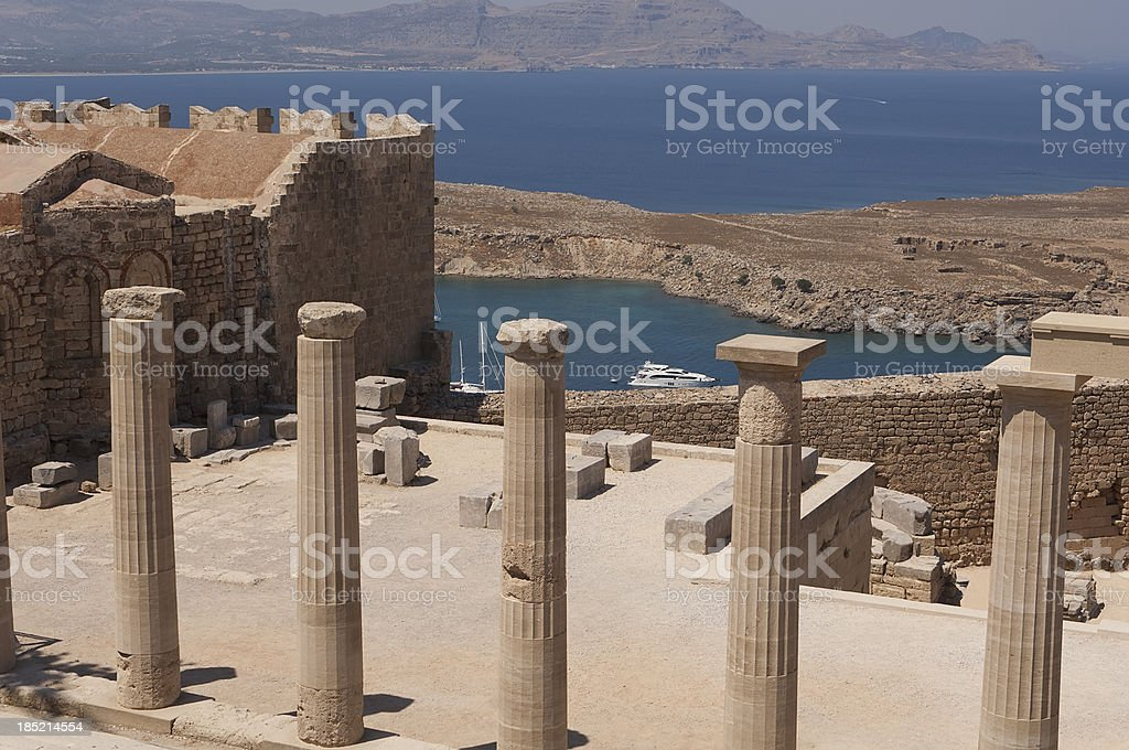 Lindos Acropolis stock photo