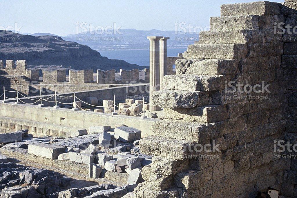 Lindos Acropolis royalty-free stock photo