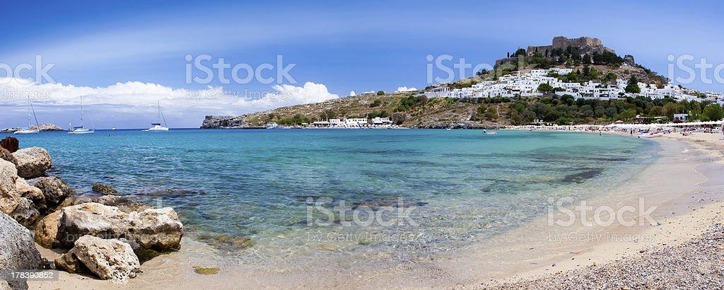 Lindos Beach photo libre de droits