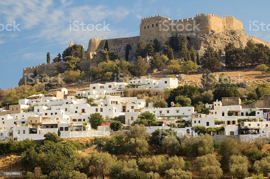 Lindos Castle - Rhodes, Greece stock photo