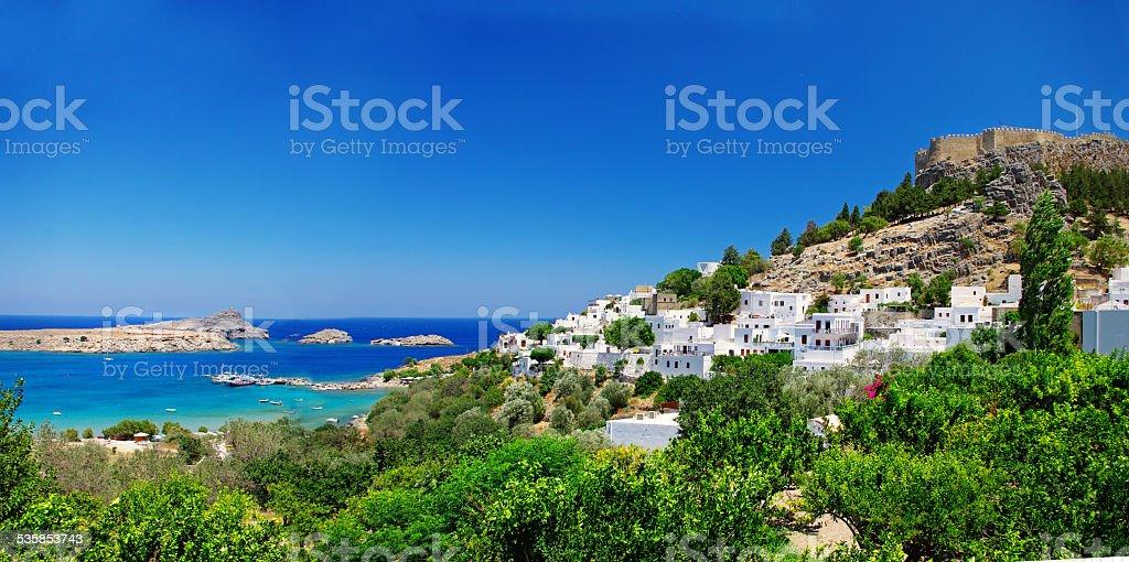 Lindos Rodhes Island,Greece. stock photo