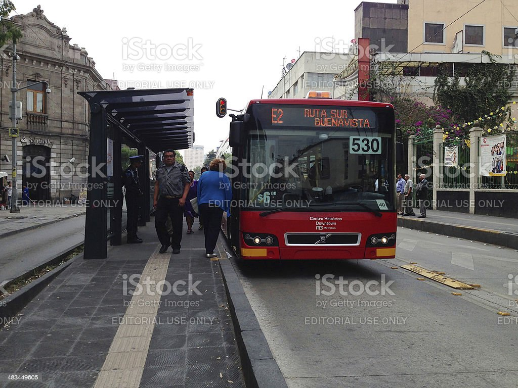 BRT Line 4 Bus at Mexico City stock photo