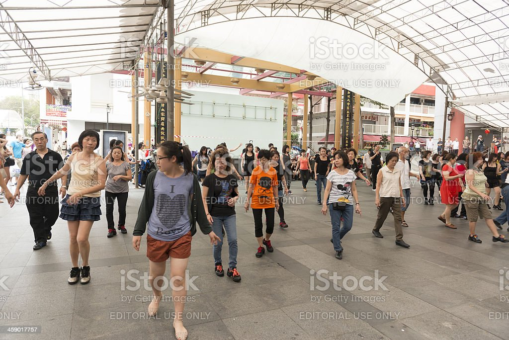 Line Dancing stock photo