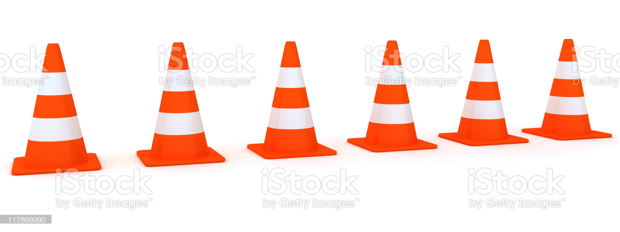 Line from Traffic Cones royalty-free stock vector art