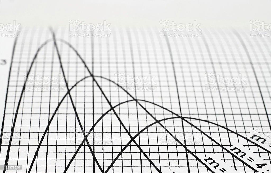 Line graph stock photo