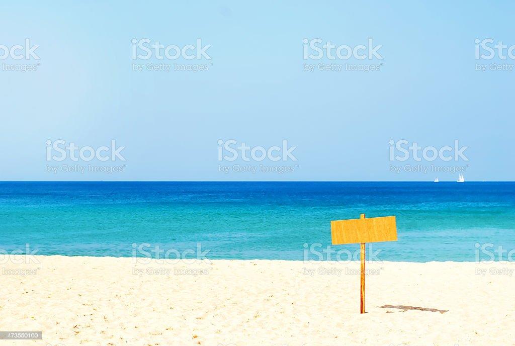 Line Horizon on the Sea Index stock photo