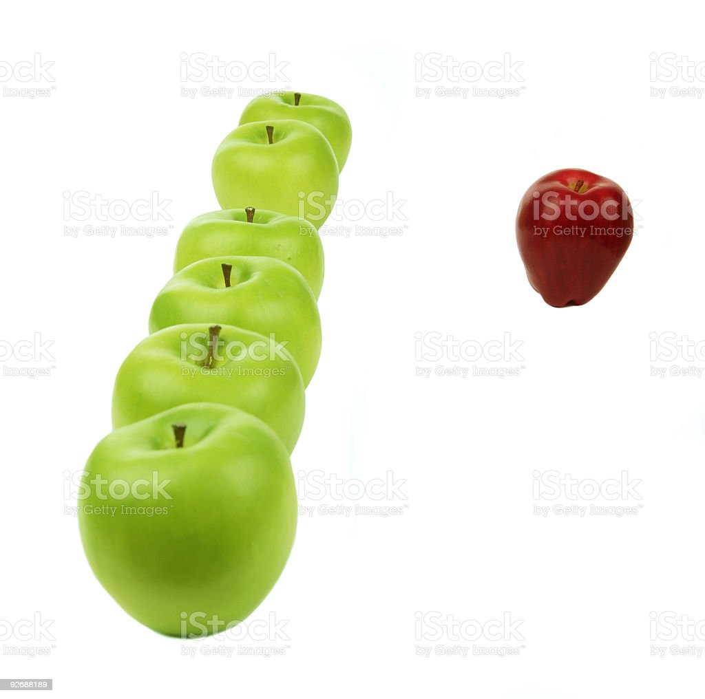 Line Of Apples royalty-free stock photo