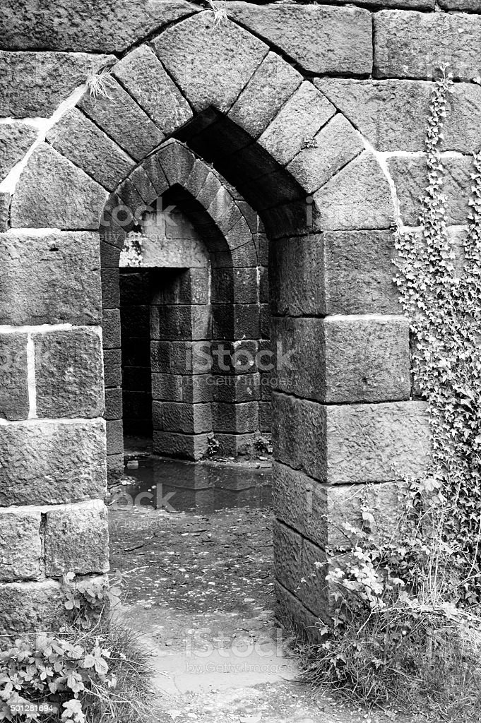 Line of arched openings stock photo