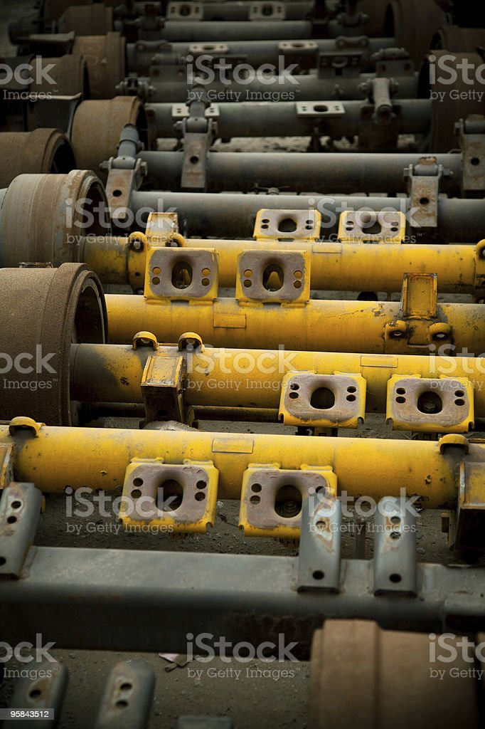 Line of Axles royalty-free stock photo