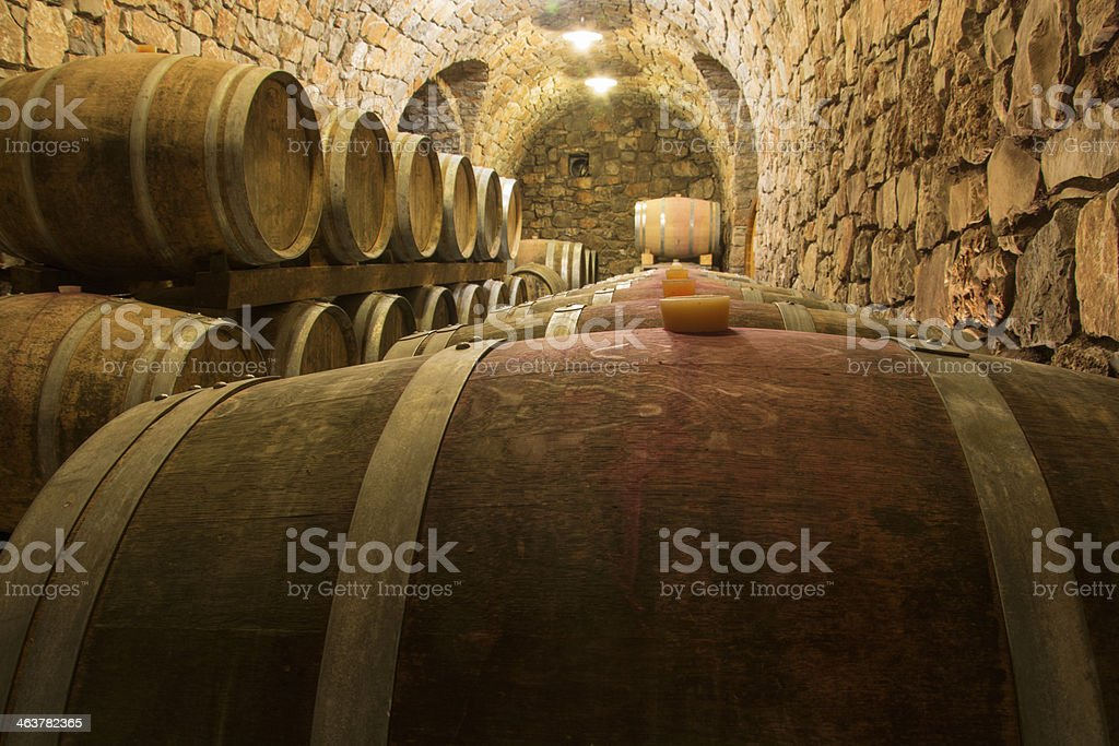 Line of Barrels stock photo