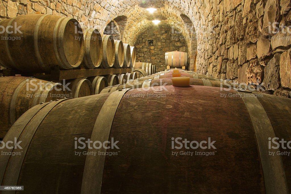 Line of Barrels stock photo