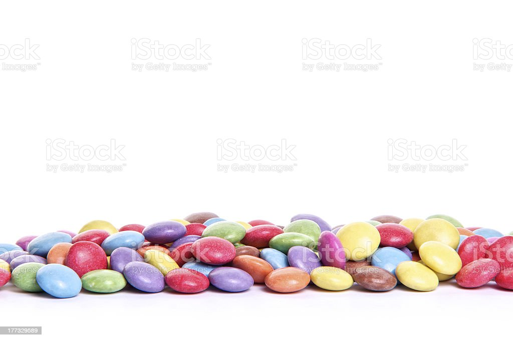 Line of candy pills royalty-free stock photo