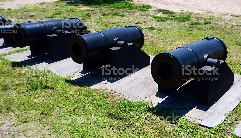 line of cannons royalty-free stock photo