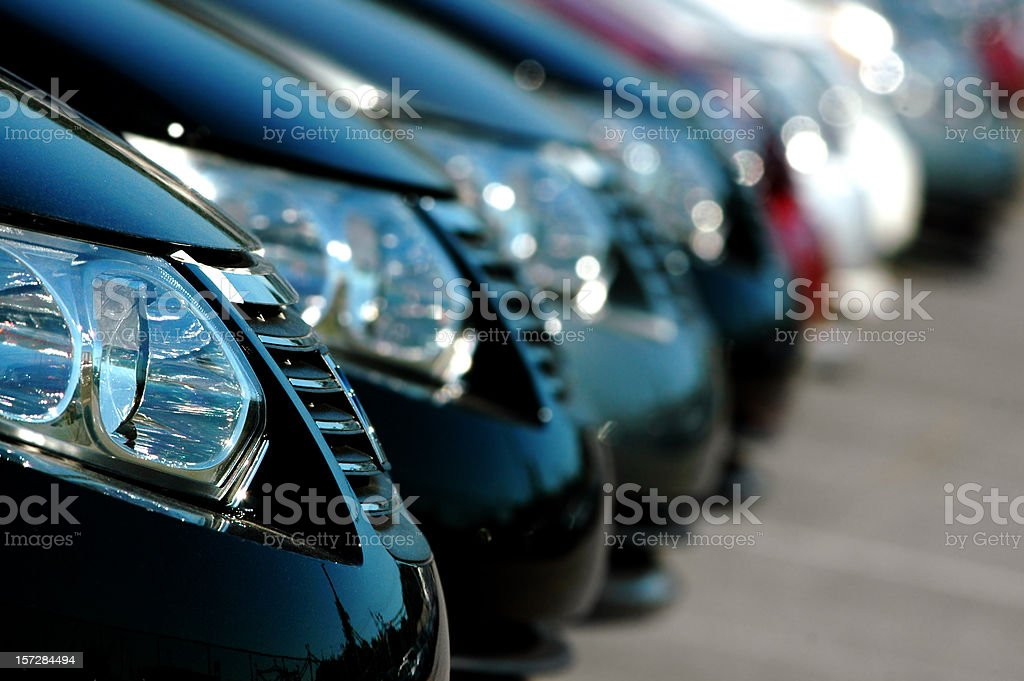 Line of Cars royalty-free stock photo