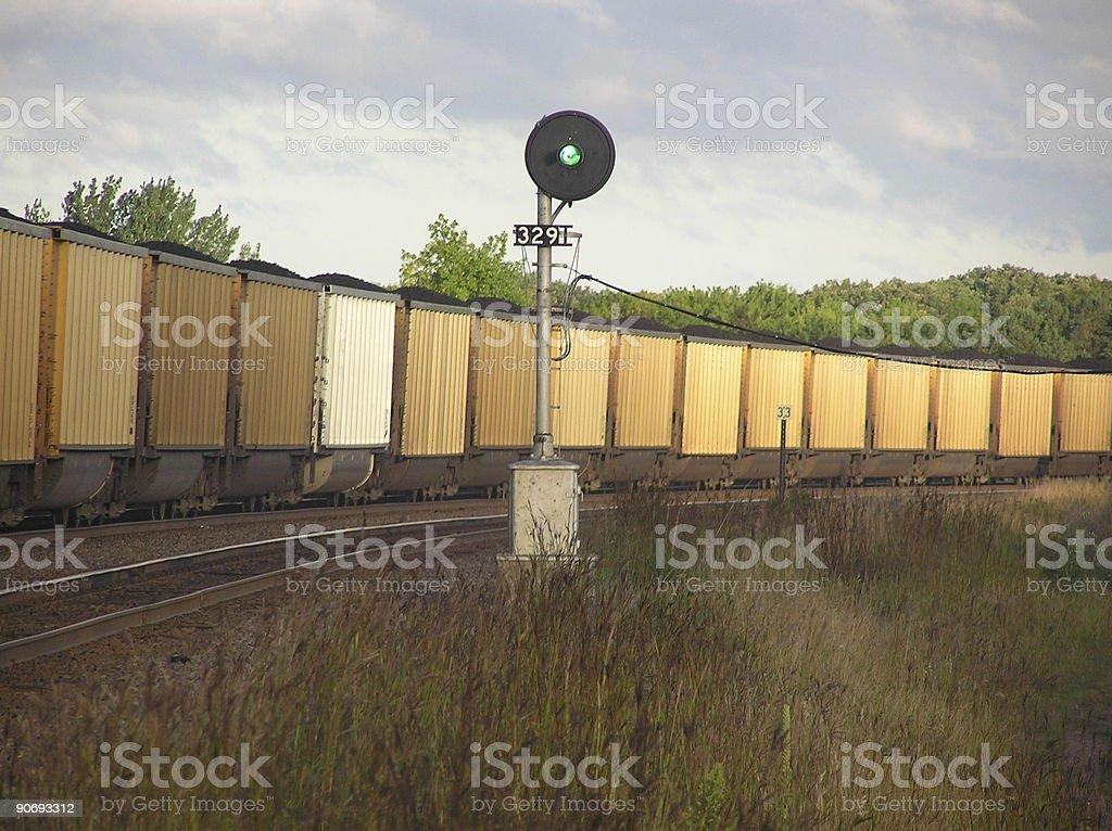 Line of Coal Cars stock photo