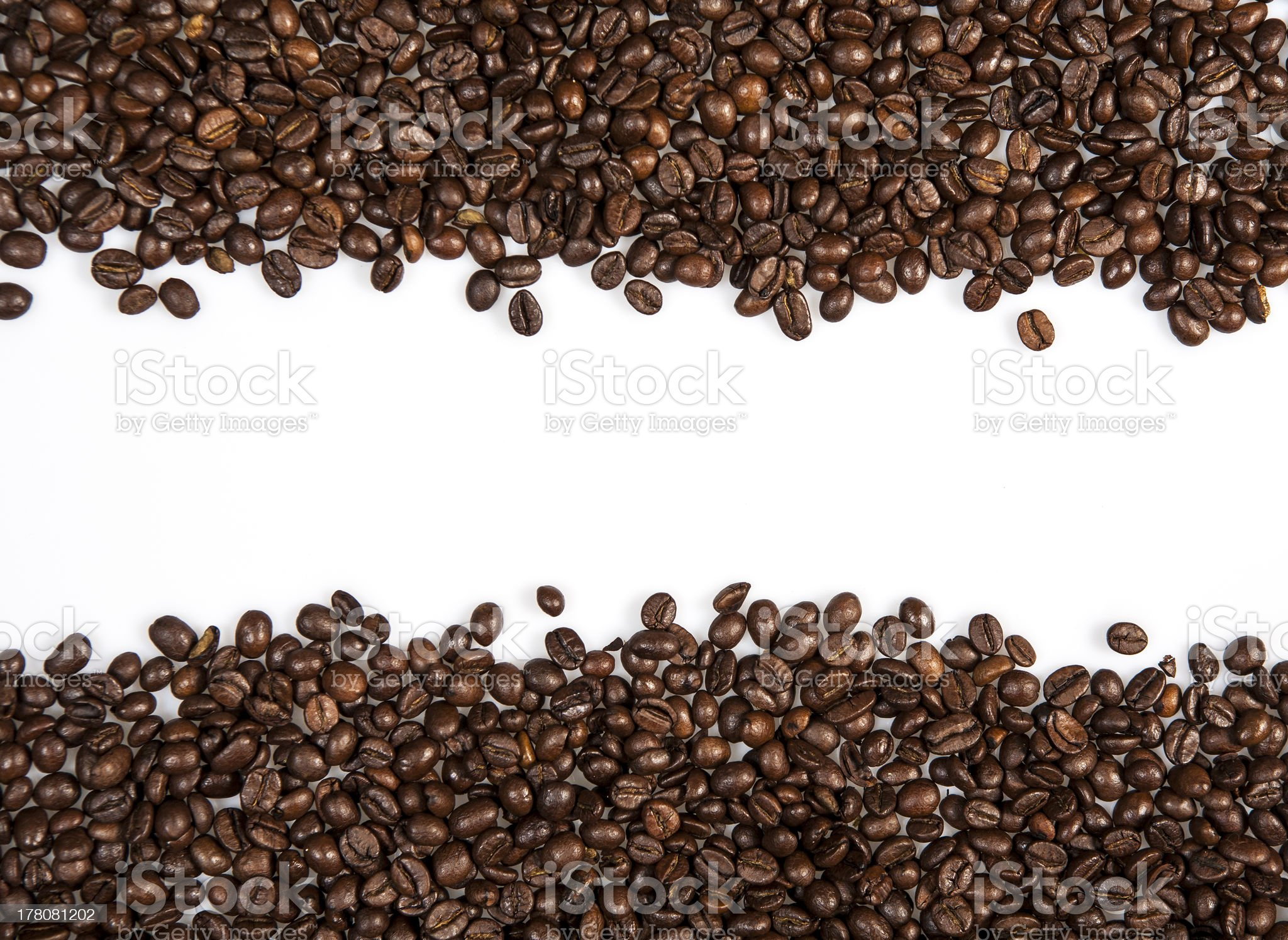 Line of coffee royalty-free stock photo