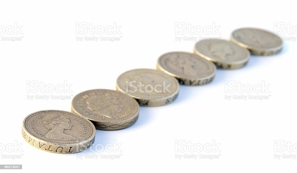 Line of coins royalty-free stock photo