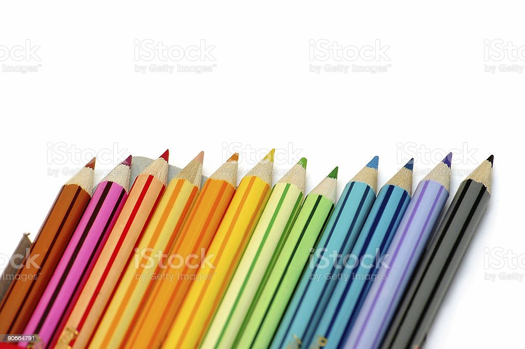 Line of colors royalty-free stock photo
