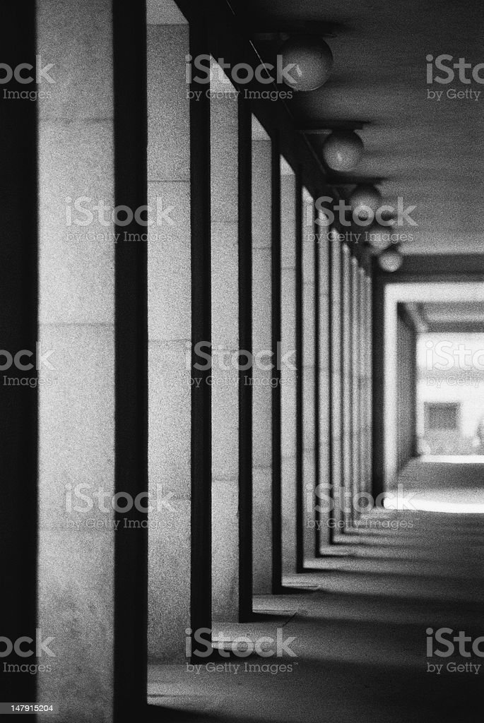 Line of columns royalty-free stock photo