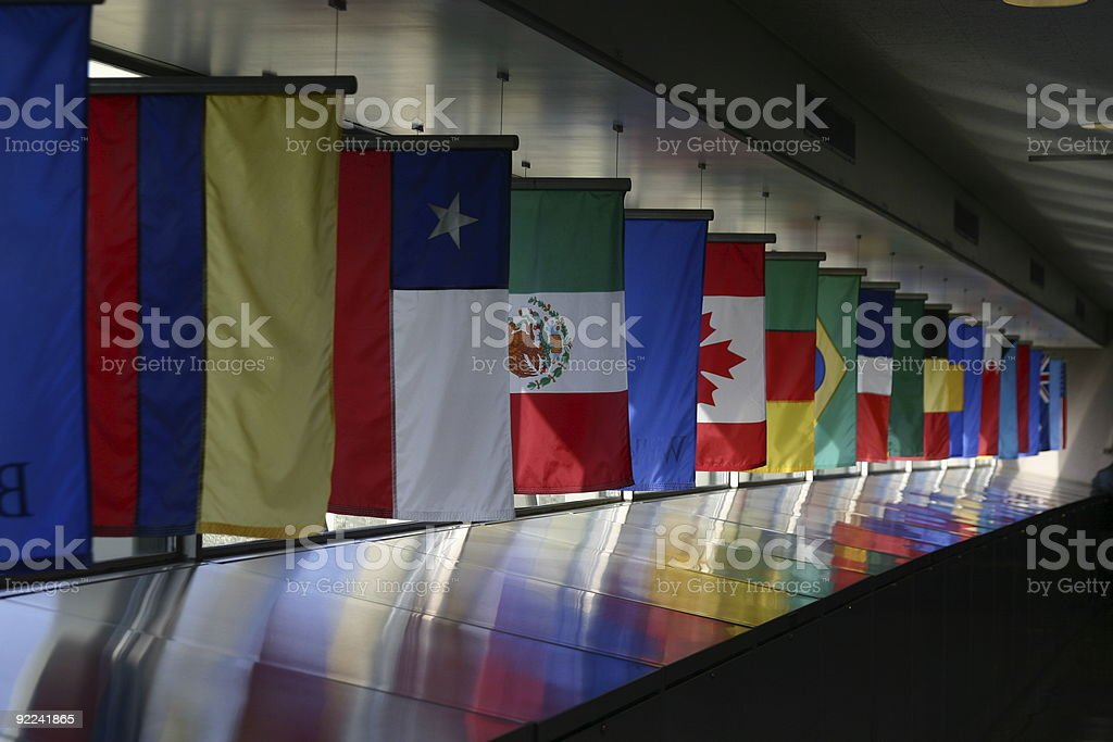 Line of country flags stock photo