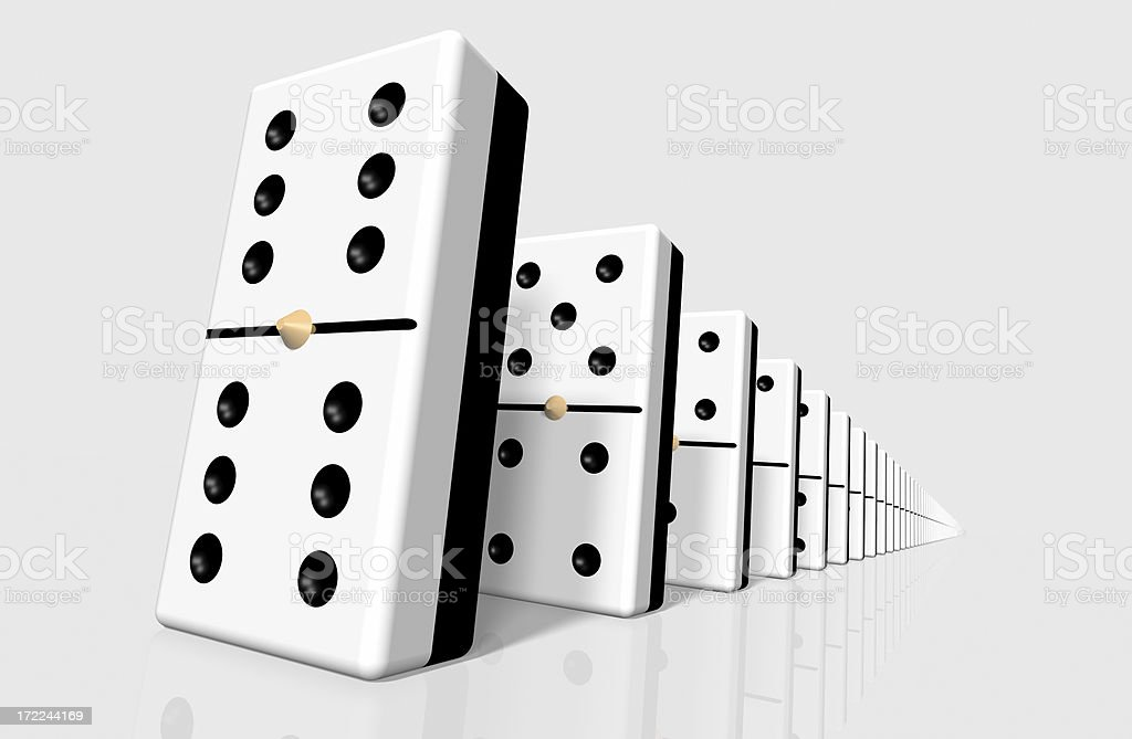 Line Of Dominoes royalty-free stock photo