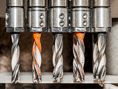 Line of drill bits