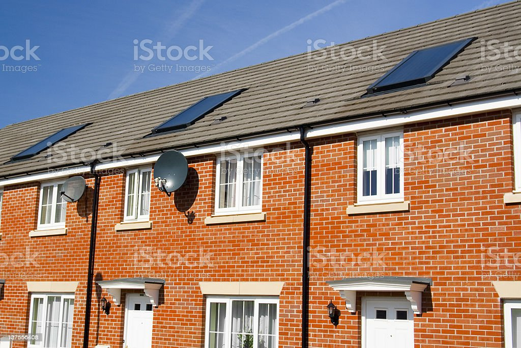 Line of new homes royalty-free stock photo
