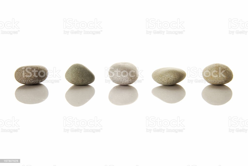Line of pebbles royalty-free stock photo