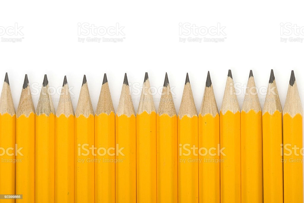 Line of pencils royalty-free stock photo