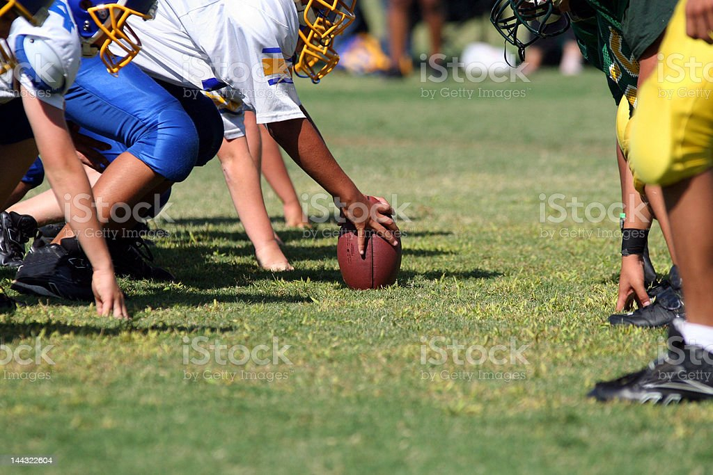 Line of Scrimmage stock photo