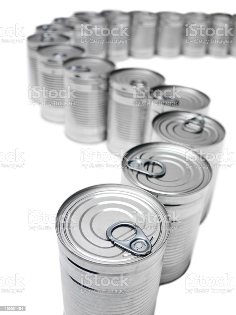 Line of Tins royalty-free stock photo