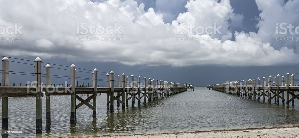 Line Squall With Docks stock photo