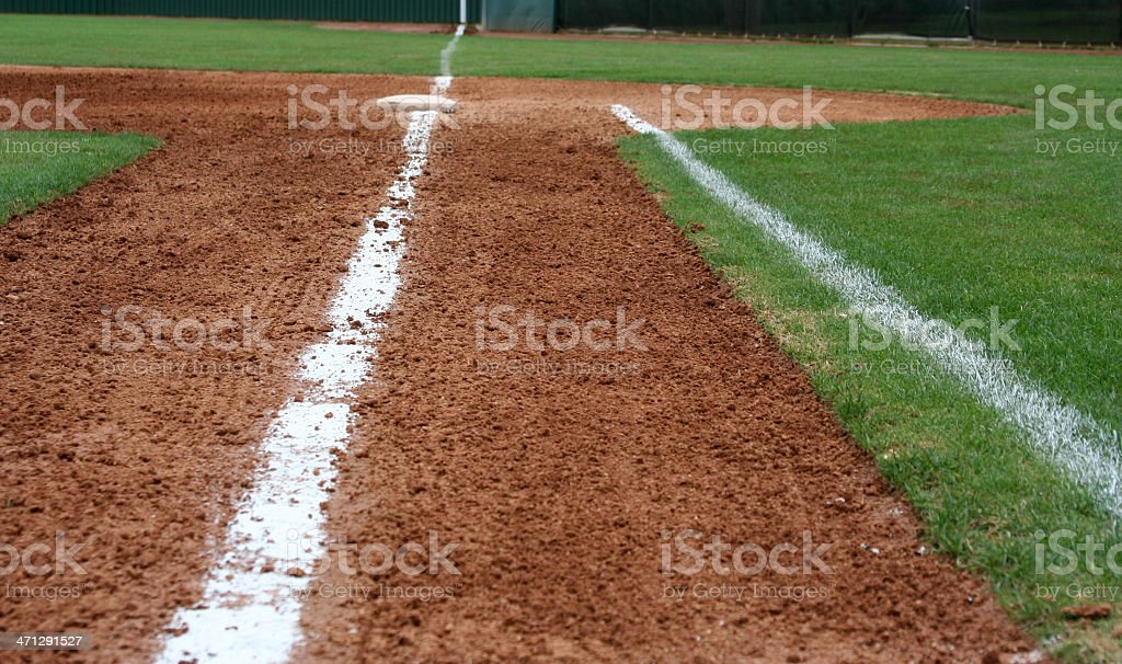 Line to First Base stock photo
