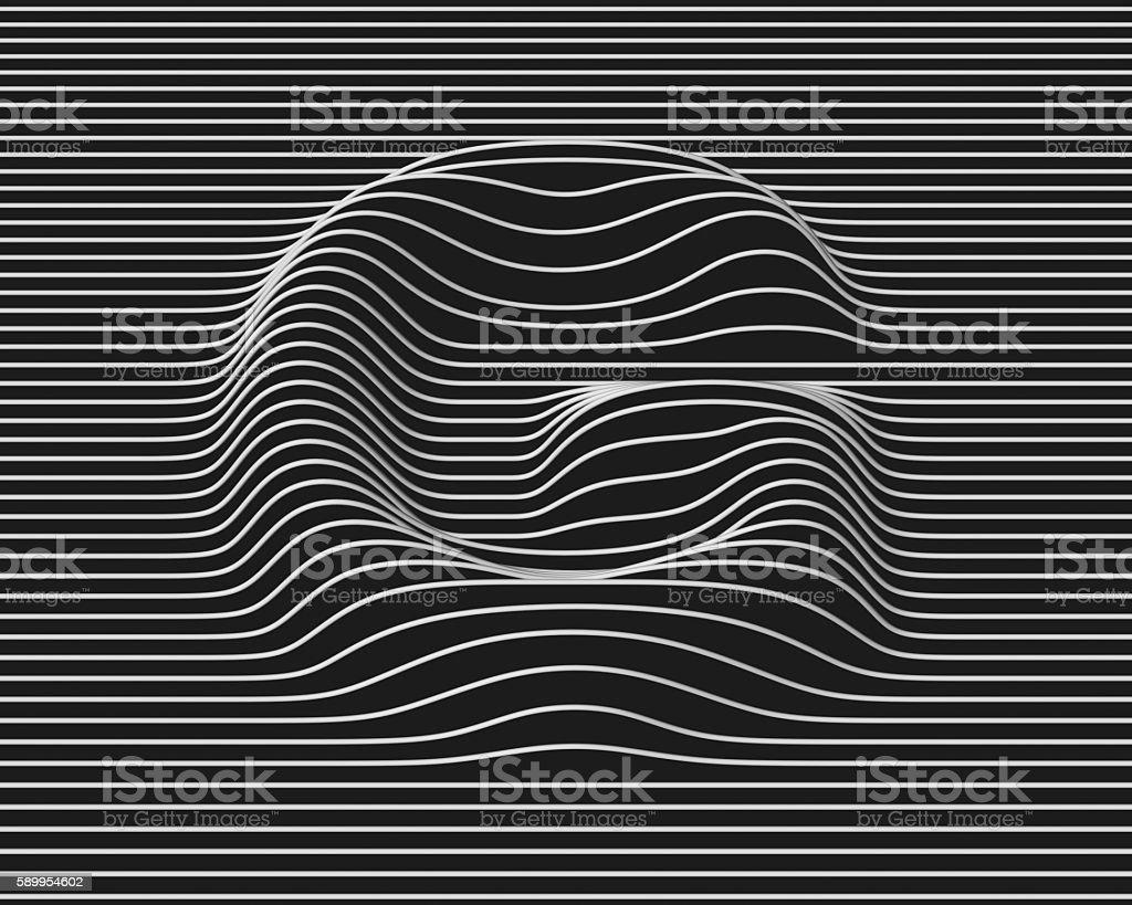 linear 3d font letter G stock photo