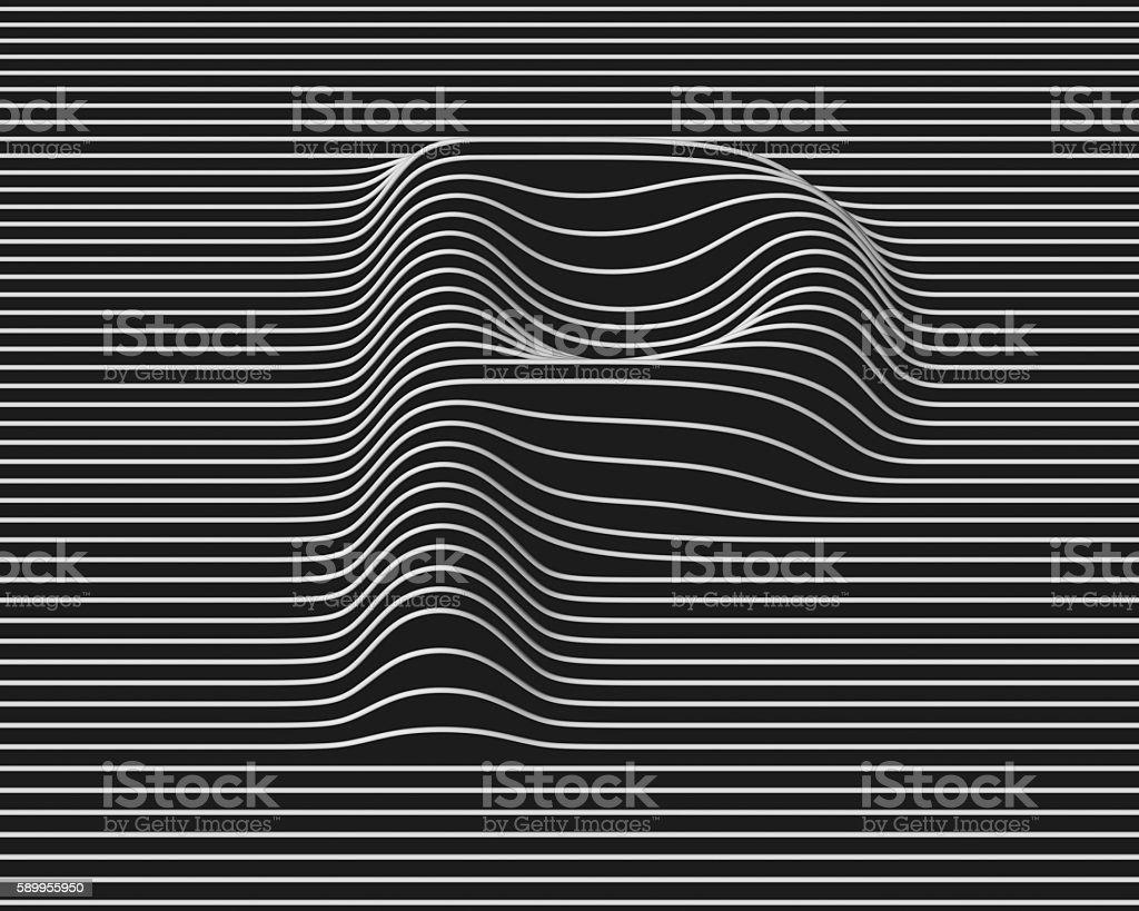 linear 3d font letter P stock photo