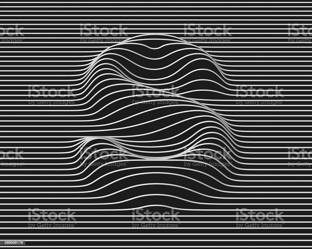 linear 3d font letter S stock photo