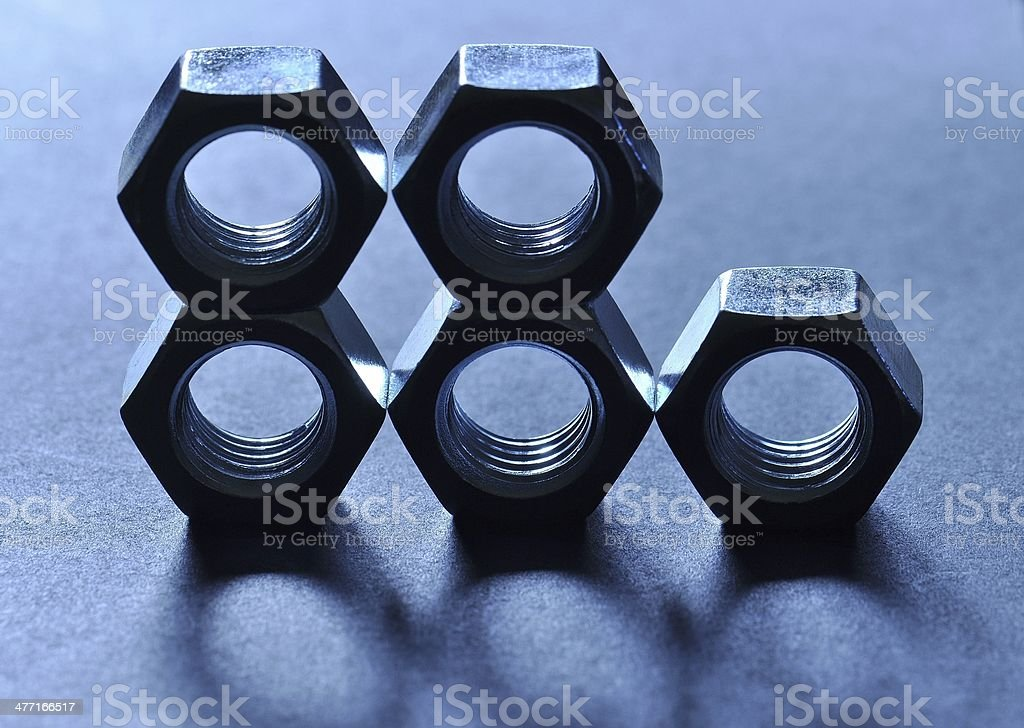 Linear Nuts stock photo