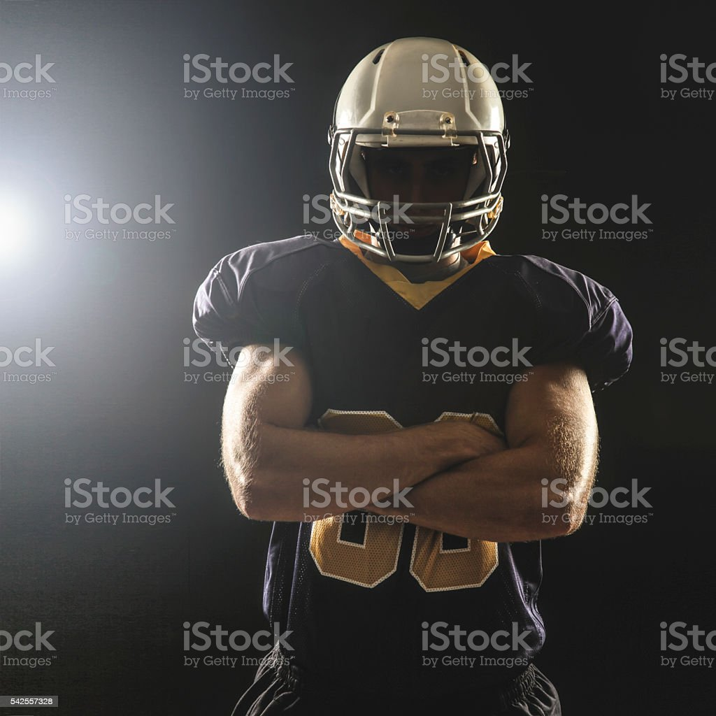 Linebacker stock photo