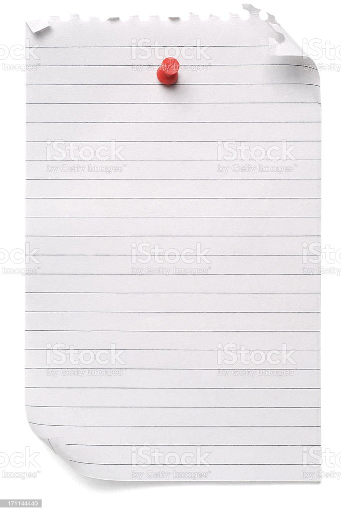 Lined blank note paper royalty-free stock photo