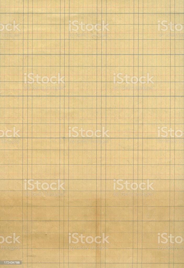 lined ledger paper royalty-free stock photo