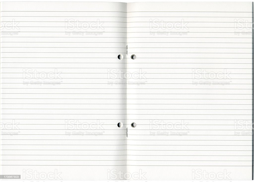 Lined Notebook royalty-free stock photo