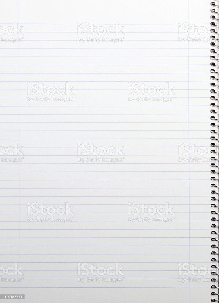 Lined notepad royalty-free stock photo
