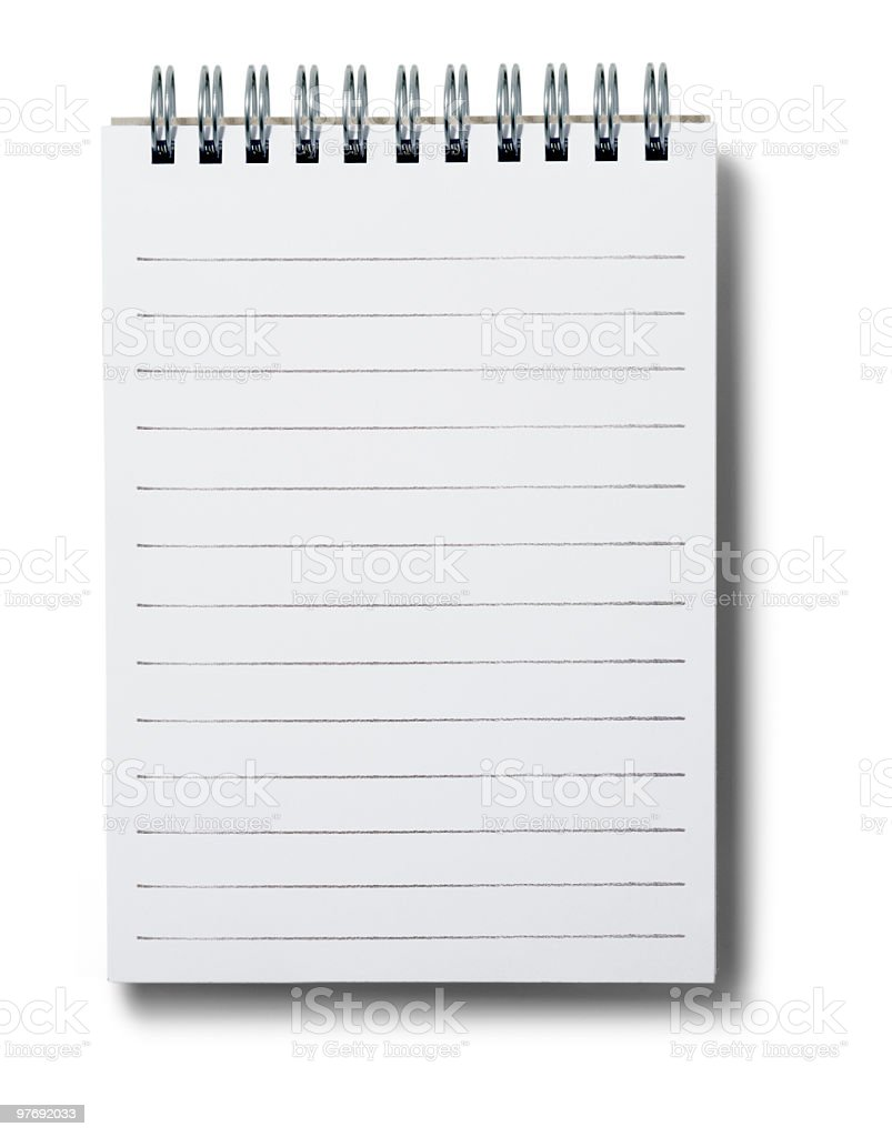 lined notepad. stock photo