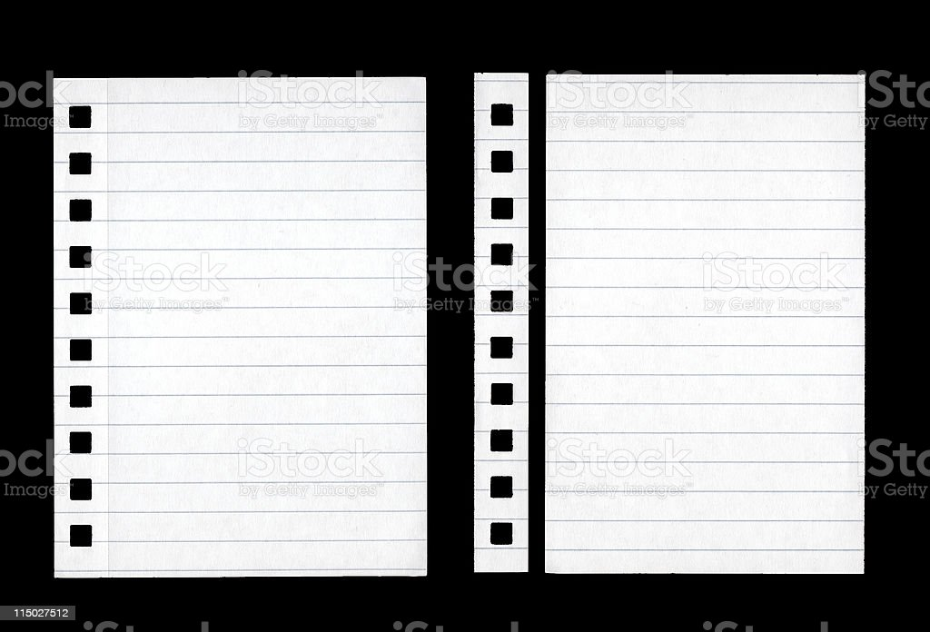 Lined Paper isolated on Black royalty-free stock photo