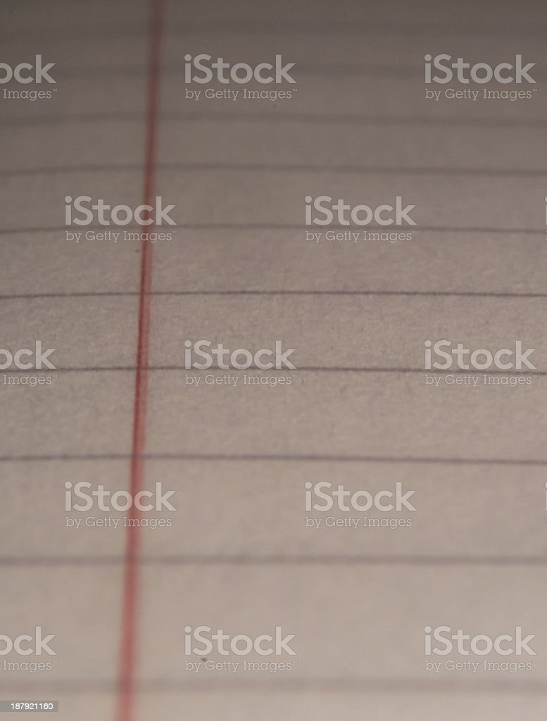 Lined Paper Margin royalty-free stock photo