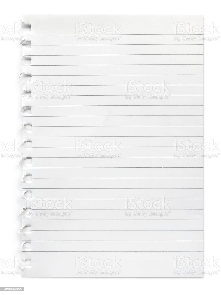 Lined paper stock photo