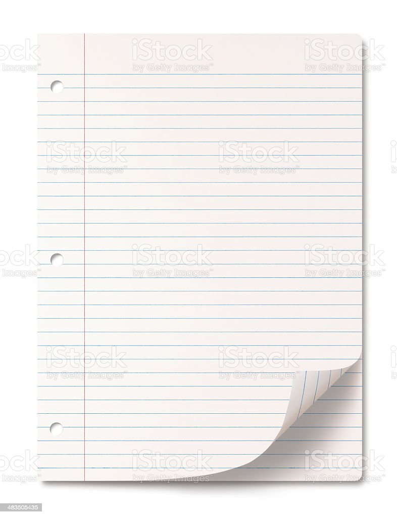 Lined paper sheets stock photo