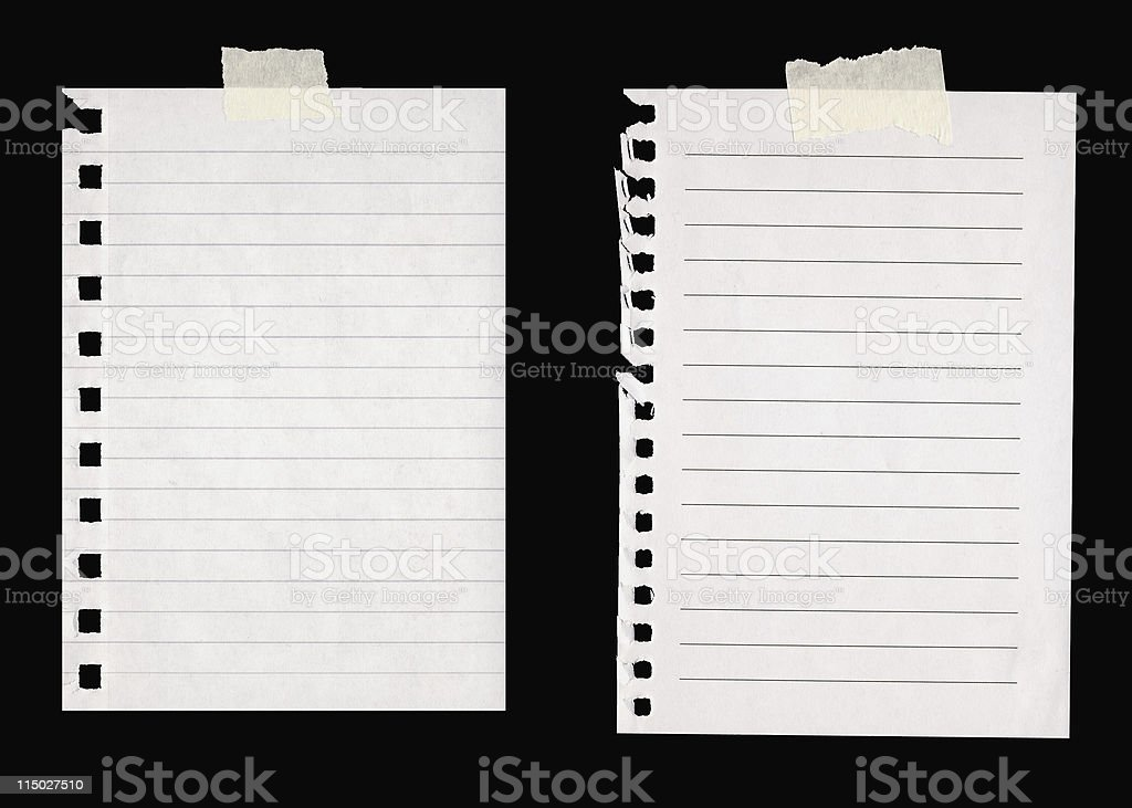 Lined Paper with Masking Tape stock photo