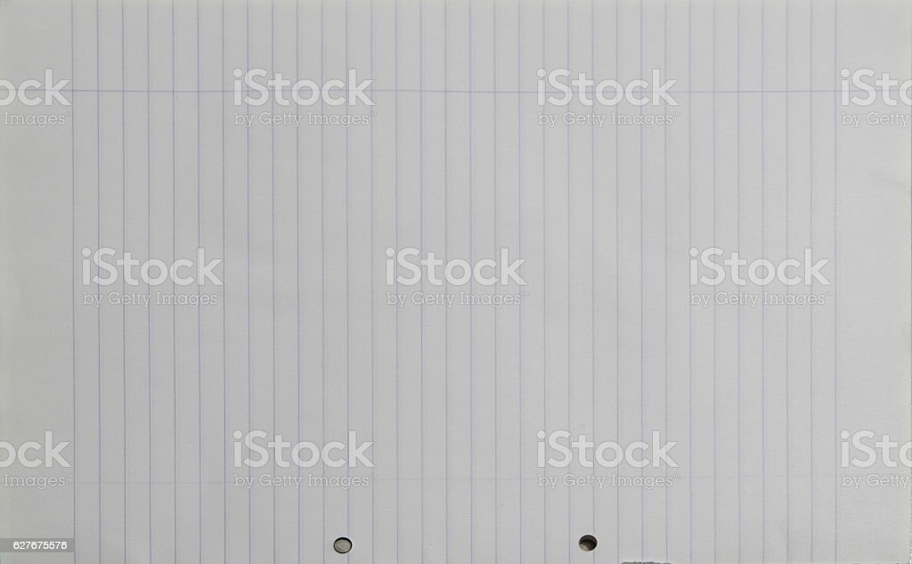 Lined perforated notepad paper texture stock photo