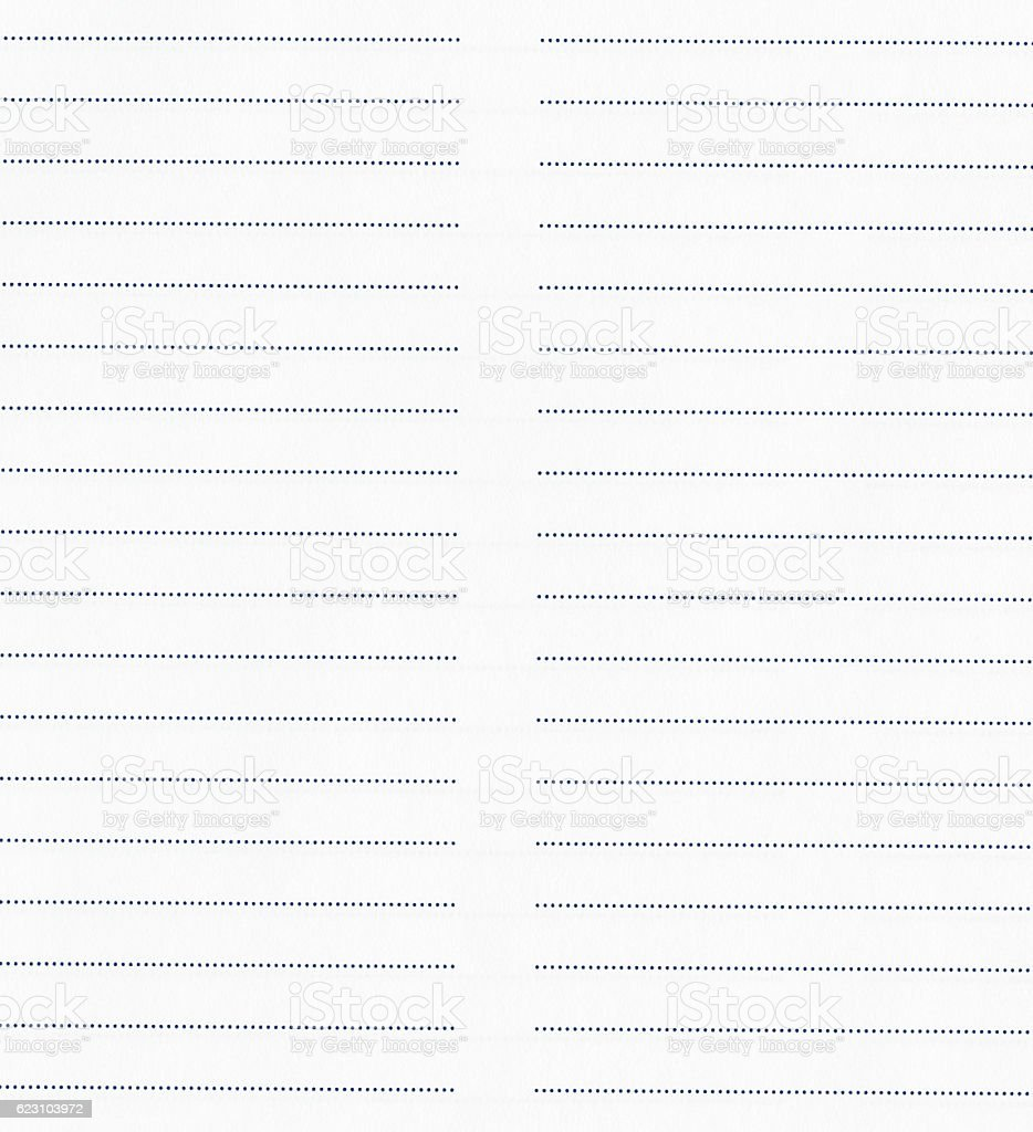 Lined sheet of paper texture or background with space for stock photo
